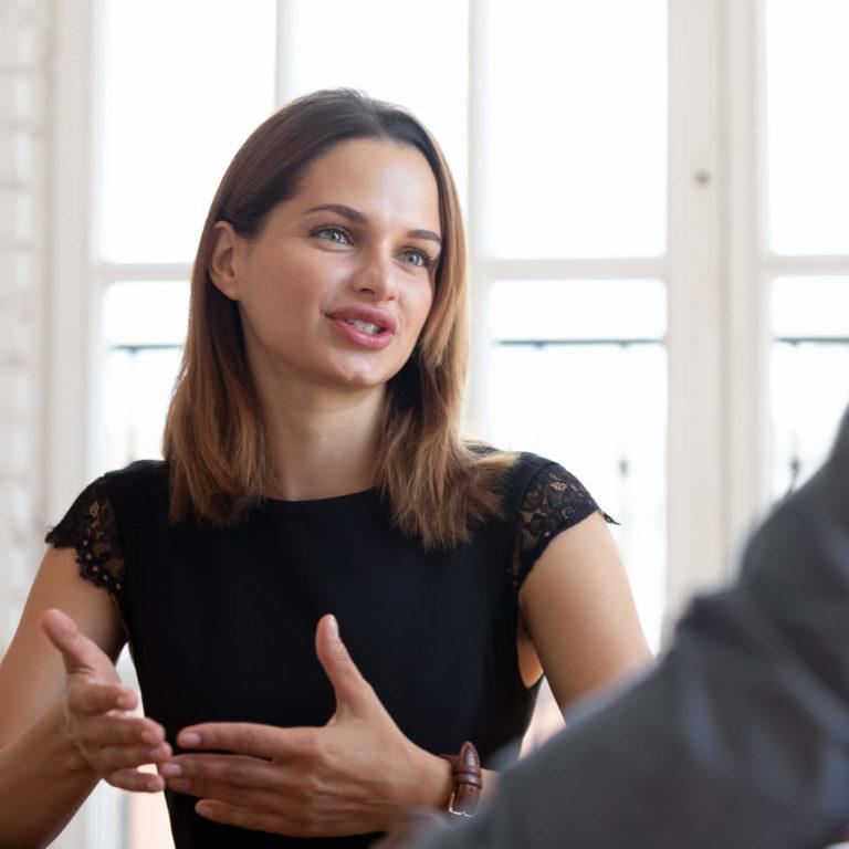 Borders Law Firm female lawyer advising