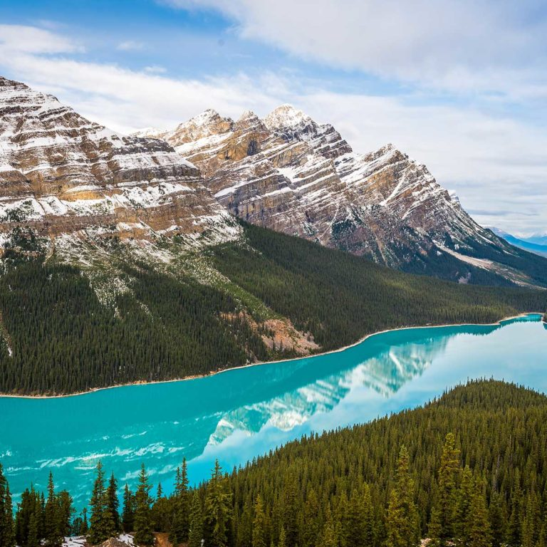 peyto lake in banff national park alberta canada Borders Immigration Law Firm